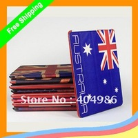 MOQ 1PC Retro Flag Wake Up Sleep Smart Cover Case/Cover for ipad2/ipad3/new ipad  + Free shipping