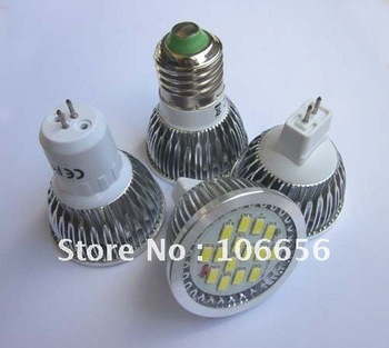 SMD5630 15pcs 7.5w LED spotlight bulb lamps Gu10, E27,MR16,GU5.3 AC85v-265v /DC12v 50pcs/lot