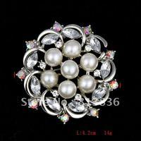 P168-383 3PC/Lot Pearl Butterfly Brooch Metal Alloy Rhinestone Imitation Diaomond Ladies' Crystal Fashion Wedding Items