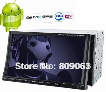 2 DIN 7 Inch Capacitive Touch Screen Android Car DVD Player with GPS, WIFI, and 3G Internet Access