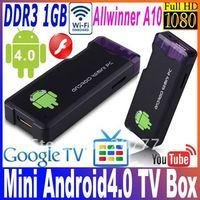 White&Black IPTV MK802 Allwinner A10 Android 4.0 RAM 1GB ROM 4GB 1.5GHz PC Mini TV Box Smart Android Box  Free shipping