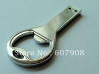 Wholesale Free Shipping Guaranteed Full Capacity  Beer Opener Bottle opener Thumbdrive USB Flash Drive Disk 4gb 8gb 16gb 32GB