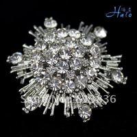 P168-427 3PC/Lot Gift Star Silver Brooch Metal Imitation Diaomond Crystal Rhinestone Fashion Alloy Jewelry