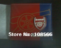 Arsenal color printing PU wallet,  arsenal red purse
