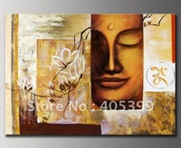 Free Shipping !! Musuem Quality Modern Buddha Oil Painting  Wall Art On Canas ,Hotel Decor JYJ-H-042