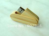 Guaranteed Full Capacity Bamboo/Wooden Rotating Shell Thumbdrive USB Flash Drive Disk Wholesale 4gb 8gb 16gb 32GB