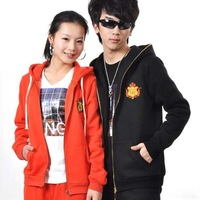 free shipping! new 2012 embroidery couple hoodies,men Spring and Autumn casual coat