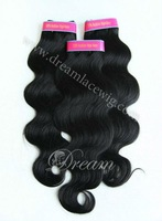 "12""-30"" Virgin brazilian remy human hair body wave weft #1 3pcs/lot 300g DHL free shipping+factory wholesale price"