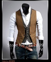 New fashion mens sleeveless Hoodie Jumper Vest , Business Waistcoat 1A060
