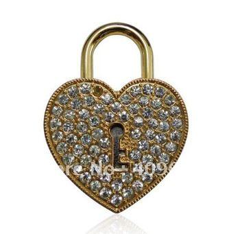retail genuine 2G 4G 8G 16G 32G usb drive thumb drive usb flash drive memory jewelry heart key lock Free shipping+Drop shipping