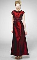 2013 Free Shipping!scoop taffeta appliques ankle-length taffeta custom-made mother of the bride dresses