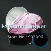 4GB/8GB/16GB Pink diamond heart pendant USB2.0 Flash Memory Stick Pen Drive ,Real Full Capacity  5PCS# 2