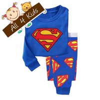 2-7T/ 6 sets Children Long Sleeve Superman Pajama Baby Pyjamas, Kid's Sleepwear Toddler's Nightwear Sleepp Sets Free shipping