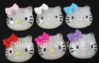 30PCS Hello Kitty resin flatback buttons appliques/craft DIY kid's doll U Pick
