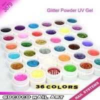 New Arrival 36 colors Gillter Power UV GEL #3679