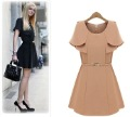 S-L free shipping manufacturers supply women's Shawl slim waist dress + belt
