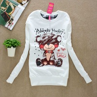 Free shipping,2013 new women casual hoodie,ladeis elegant autum/Spring hoodies,womens tops,(Thin),White,/X2492
