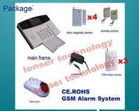 1PCS/LOT ,3motion sensor +4door/window sensor+ 1 wireless outdoor big flash siren, LCD GSM intruder alarm systems