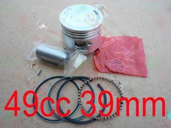 49cc two stroke engine piston sets , mini bike engine parts, pocket bike piston and rings