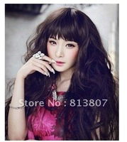 3 Color Stylish Lady Wavy Wigs lace Wig hair wigs synthetic material ,free shipping