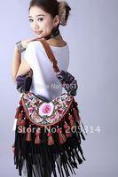 New Arrival Fashion Tassel Ladies Handbag/Shoulder Bag Vintage Embroidery Woman Messager Bag