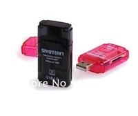 Card Reader 4 in 1,  Card Reader all in 1, SD/MMC/SDHC/DV, M2 SD/TF card reader free shipping