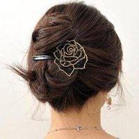 Free shipping, Charming European beaded rose barrette, Trendy women's headwear, Promotional souvenir