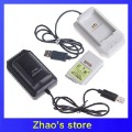 2pcs 4800mAh rechargeable battery charging holder for XBOX 360 controller black/white colour available