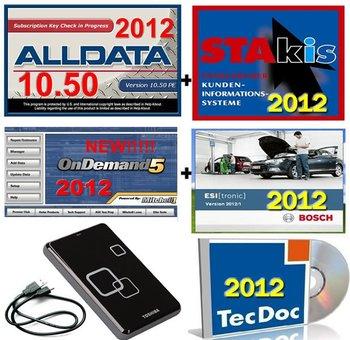 10 Auto repair software 2012 alldata+mitchell+ esi+atris +Tecdoc+Transmission+vivid workshop+ATSG+vivid workshop+640GB HDD