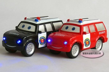 Free shipping-- Entrance security police / acousto-optic edition Jai alloy model car/ alloy model car /  puzzle toy