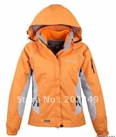 Women's outdoor jacket 2in1 waterproof windproof breathable outdoor climbing jacket ski jacket Women's sports jacket,