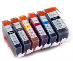 6 x INK Cartridges PGI-525 BK PGI525BK CLI-526 for CANON PIXMA MG6100 MG6150 MG6250 PRINTER(China (Mainland))