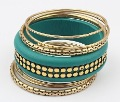 Free Shipping Fashion Jewelry Vintage Multilayer Metal Colorful Bracelet(Green) 91546# Wholesale Bracelet&Bangles Best For Women