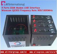 4 Ports GSM Modem USB Interface Wavecom Module Q2303 duad-band 900/1800MHz