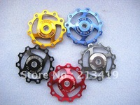 Free shipping wholesale price Jockey Wheel for Rear Derailleur Pulley 11T Mix-color 5pcs/lot