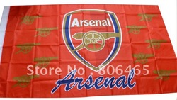 New 150*90 cm Arsenal soccer teams flag,hang polyester banners, 10ps(China (Mainland))