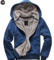 Wholesale - Hot Free Shipping Men&#39;s Fashion coat Casual Cotton Hooded sweater thicken plush jacket M005