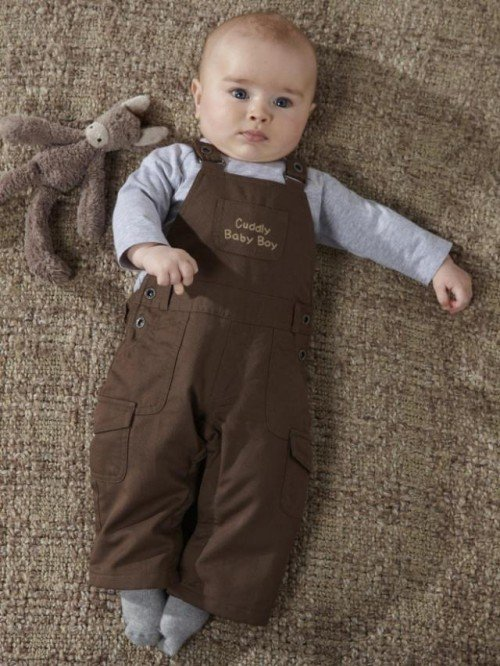 DHL/EMS Free shipping baby boys gentleman Coffee Overall + T Shirt 2pc suit 80-90-100 (2:2:1) NEW(China (Mainland))