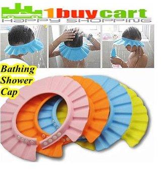 New Baby Kids Children Soft Shampoo Bathing Shower Cap Hat Wash Hair Shield brx 10pcs