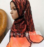 FREE SHIPPING,patchwork shawl,lace scarf,flower shawl,women,s scarf,muslim hijab,2012 new design,45*180cm,fashion ladies shawl
