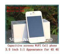 Мобильный телефон 2012 New i9220 WIFI TV phone Dual Cards Dual Standby 4.0 inch touch screen cellphone