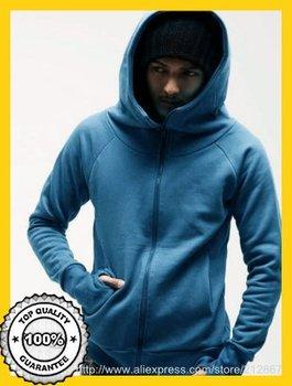 Hot Sale 2014 Autumn Winter New Styles Hooded Clothes Men's Dust Coat High Collar Men's Hoodie Jackets Top Brand Hoodies M-XXL