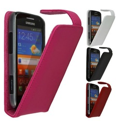 DOORMOON business style flip leather Case For Samsung Galaxy Ace 2 i8160, for Galaxy ace ii, 4 color for choose + retail package(China (Mainland))