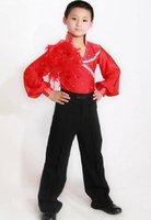 Boy Latin dance costume/outfit/clothing set(shirt+pants) 6~15T child Cha-Cha stage wear kid Rumba/Samba/Ballroom dancewear
