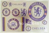 Rectangle Chelsea pvc soccer sticker,PVC football paper home sticker,30pcs