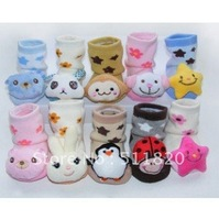 shipping drop 2012 autumn baby cotton socks,0~1age baby lovely floor socks wholesaler,kid's socks