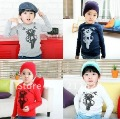 Wholesale cotton children's clothes boy T-shirt Thicken Haulage Motor boy's Primer shirt blouses tops 5pcs/lot Free ship 610147J