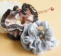 Retail.Patchwork lace edge headbands/Elastic hair band/Hair accessories/Headwear.8 colors.Beatiful flowers.Hot sale.T0930A07M01