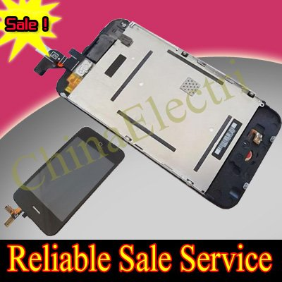 For iPhone 3G lcd screen+ touch digitizer +frame full assembly replacement(China (Mainland))