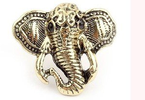 Factory Outlet Price Free Shipping New Lot 24 Pcs Vogue Retro Bronze Elephant Rings(China (Mainland))